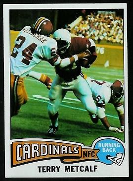 Terry Metcalf 1975 Topps football card