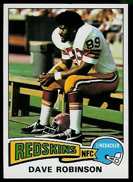 Dave Robinson 1975 Topps football card