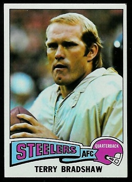 Terry Bradshaw 1975 Topps football card