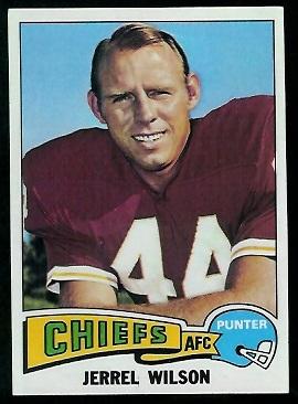 Jerrel Wilson 1975 Topps football card