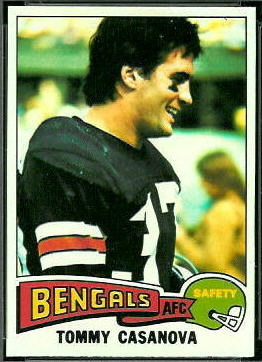 Tommy Casanova 1975 Topps football card