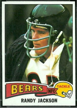Randy Jackson 1975 Topps football card