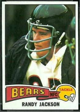 Randy Jackson 1975 Topps football card
