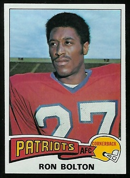 Ron Bolton 1975 Topps football card