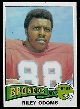 Riley Odoms 1975 Topps football card