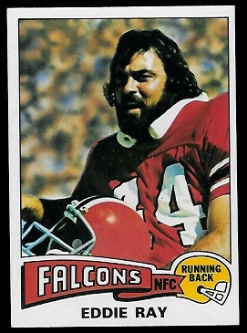Eddie Ray 1975 Topps football card