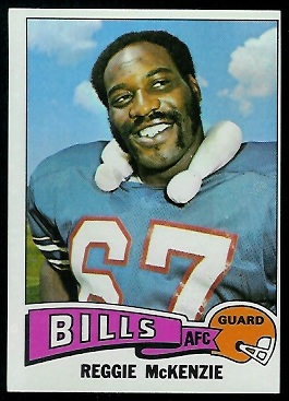 Reggie McKenzie 1975 Topps football card
