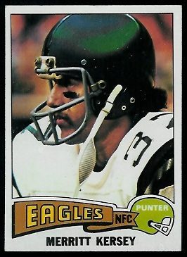 Merritt Kersey 1975 Topps football card