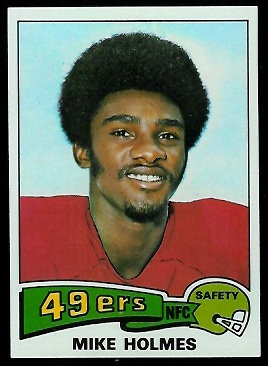 Mike Holmes 1975 Topps football card