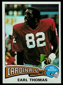 Earl Thomas 1975 Topps football card