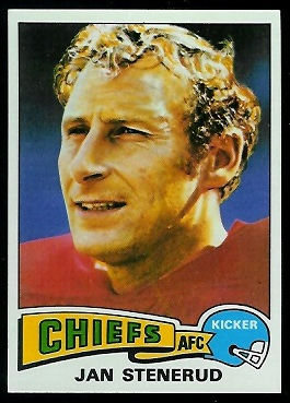 Jan Stenerud 1975 Topps football card