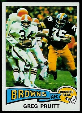 Greg Pruitt 1975 Topps football card