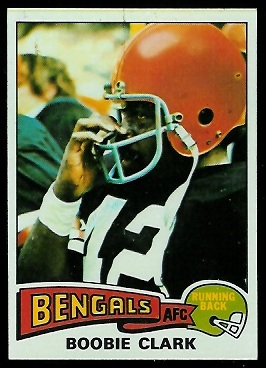 Boobie Clark 1975 Topps football card