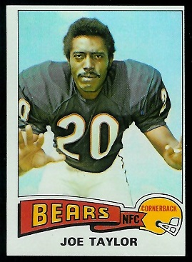 Joe Taylor 1975 Topps football card