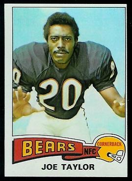 Joe Taylor 1975 Topps football card