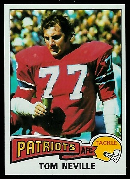 Tom Neville 1975 Topps football card