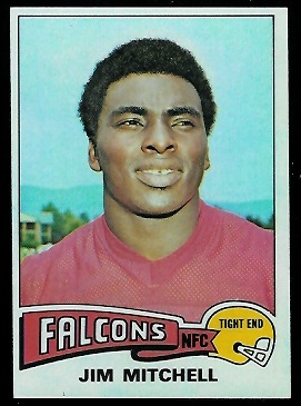 Jim Mitchell 1975 Topps football card