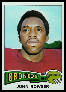 John Rowser 1975 Topps football card
