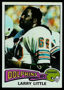 Larry Little 1975 Topps football card