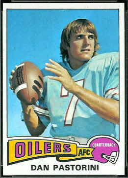 Dan Pastorini 1975 Topps football card