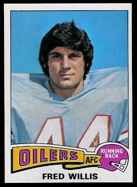 Fred Willis 1975 Topps football card