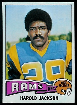Harold Jackson 1975 Topps football card