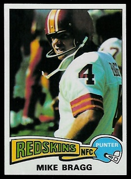 Mike Bragg 1975 Topps football card