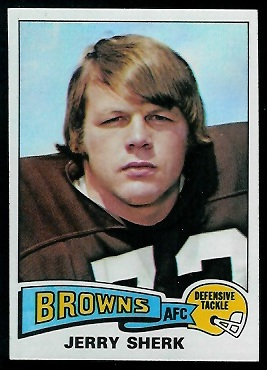 Jerry Sherk 1975 Topps football card