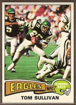 Tom Sullivan 1975 Topps football card