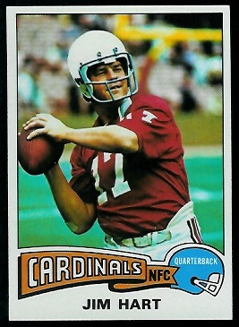 Jim Hart 1975 Topps football card