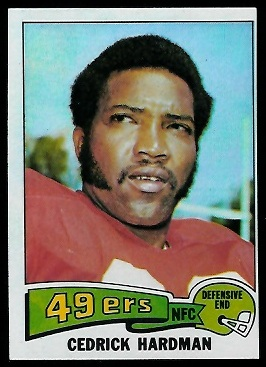Cedrick Hardman 1975 Topps football card