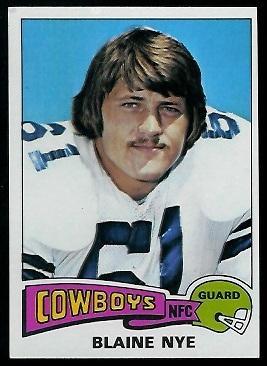 Blaine Nye 1975 Topps football card
