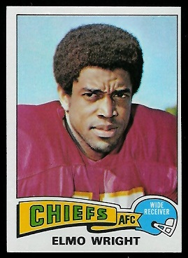 Elmo Wright 1975 Topps football card