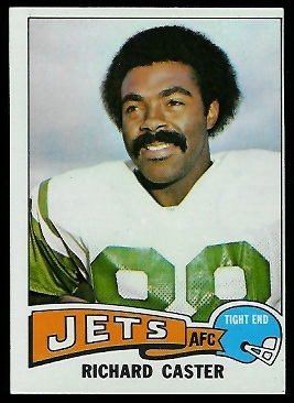 Richard Caster 1975 Topps football card