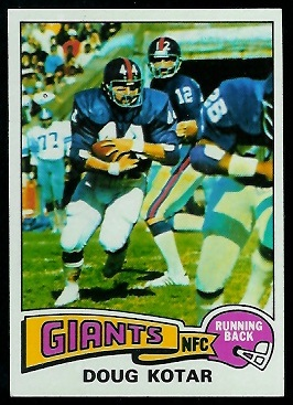 Doug Kotar 1975 Topps football card