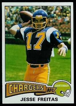 Jesse Freitas 1975 Topps football card