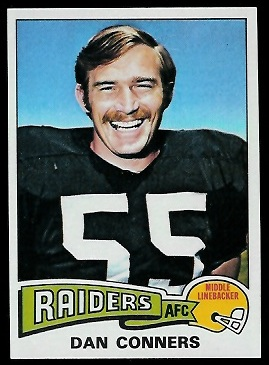 Dan Conners 1975 Topps football card