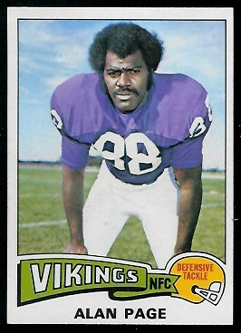 Alan Page 1975 Topps football card