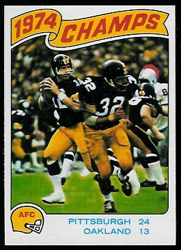 1974 AFC Championship 1975 Topps football card