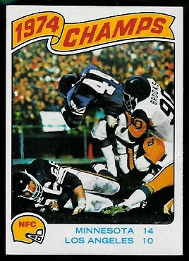 1974 NFC Championship 1975 Topps football card