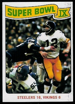 Super Bowl IX 1975 Topps football card