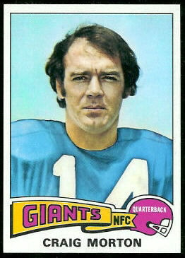 Craig Morton 1975 Topps football card