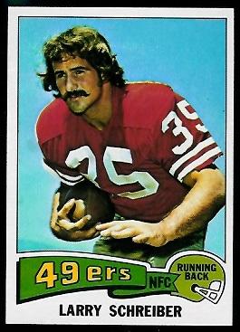 Larry Schreiber 1975 Topps football card