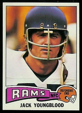 Jack Youngblood 1975 Topps football card