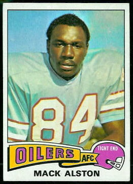 Mack Alston 1975 Topps football card