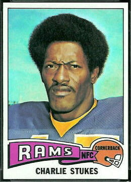 Charlie Stukes 1975 Topps football card
