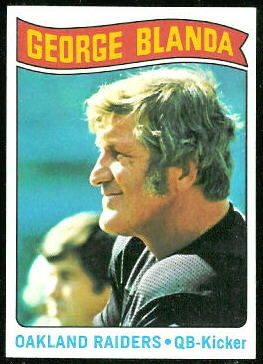 George Blanda 1975 Topps football card