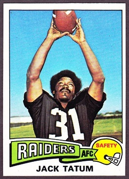 Jack Tatum 1975 Topps football card