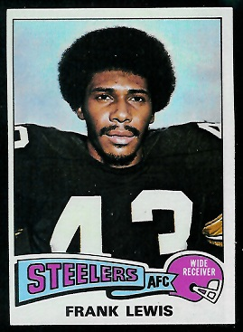 Frank Lewis 1975 Topps football card