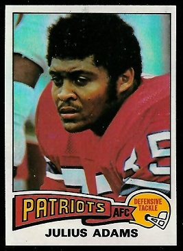 Julius Adams 1975 Topps football card